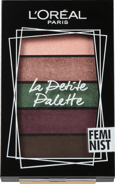 Палетка теней для век - L'Oreal Paris La Petite Palette Feminist Eyeshadow