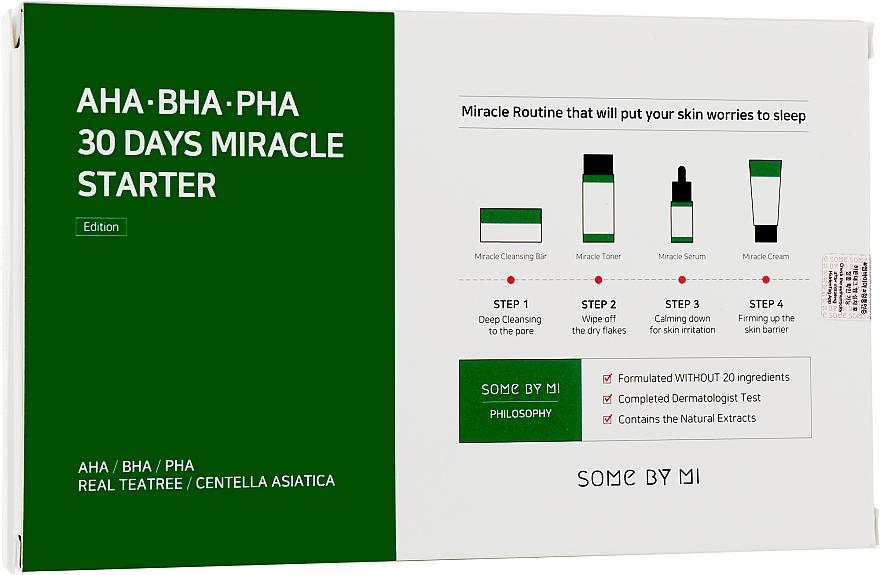 Набор - Some By Mi AHA BHA PHA 30 Days Miracle Mini Set (soap/30ml + ton/mini/30ml + ser/mini/10ml + f/cr/mini/20g)