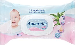 Духи, Парфюмерия, косметика Детские влажные салфетки с крышечкой - Sts Cosmetics Aquarelle Kids Wet Wipes