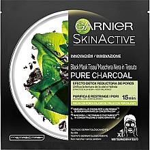 Духи, Парфюмерия, косметика Тканевая маска для лица - Garnier Skin Active Pure Charcoal Mask