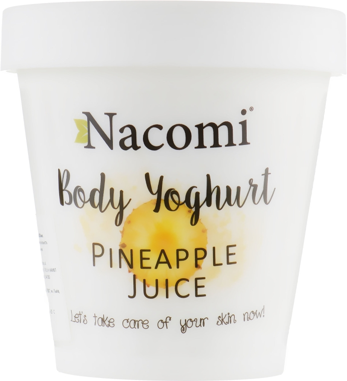 "Йогурт для тела ""Ананас"" - Nacomi Body Jogurt Pinapple Juice"