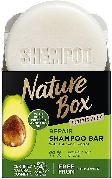 Твердый шампунь для восстановления волос с маслом авокадо холодного отжима - Nature Box Nourishment Vegan Shampoo Bar With Cold Pressed Avocado Oil