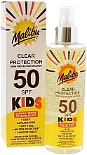 Духи, Парфюмерия, косметика Солнцезащитный спрей для детей - Malibu Kids Clear Protection Spray SPF 50