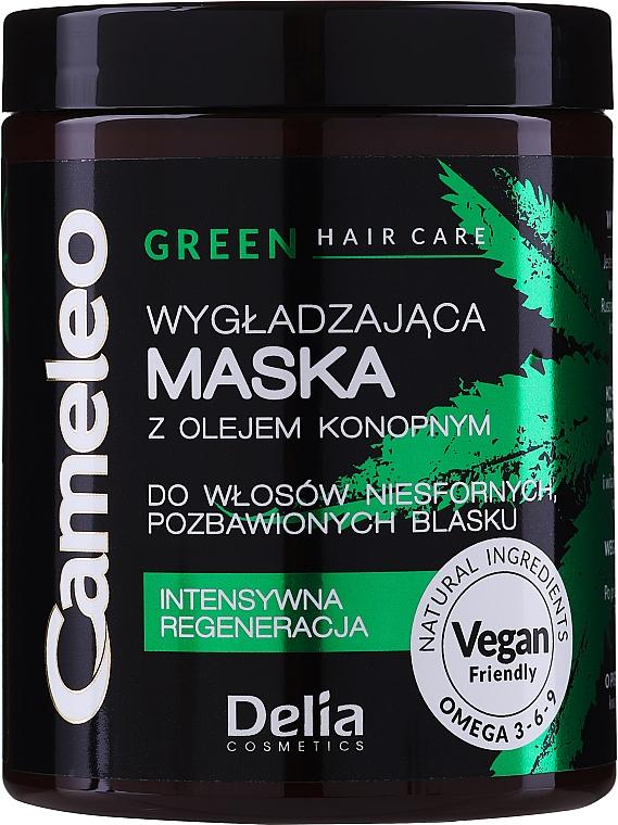 Разглаживающая маска с маслом конопли для волос - Delia Cosmetics Cameleo Green Mask