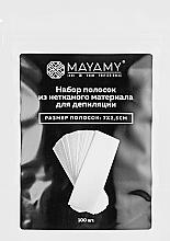 Духи, Парфюмерия, косметика Набор полосок из нетканого материала для депиляции, 7x2.5см - Mayamy