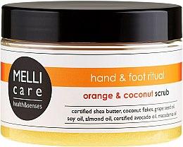Духи, Парфюмерия, косметика Скраб для тела - Melli Care Orange & Coconut Scrub