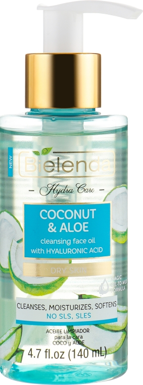"Очищающее масло для лица ""Кокос и алоэ"" - Bielenda Hydra Care Cleansing Face Oil Coconut and Aloe"