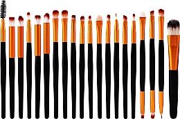 Духи, Парфюмерия, косметика Набор профессиональных кистей для макияжа, 20 шт, черно-золотой - Lewer