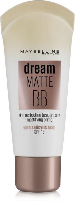 Тональный матирующий крем для проблемной кожи - Maybelline New York Dream Matte BB Cream 8-in-1