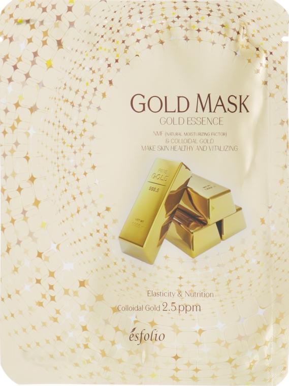 Тканевая маска с золотом - Esfolio Gold Essence Mask