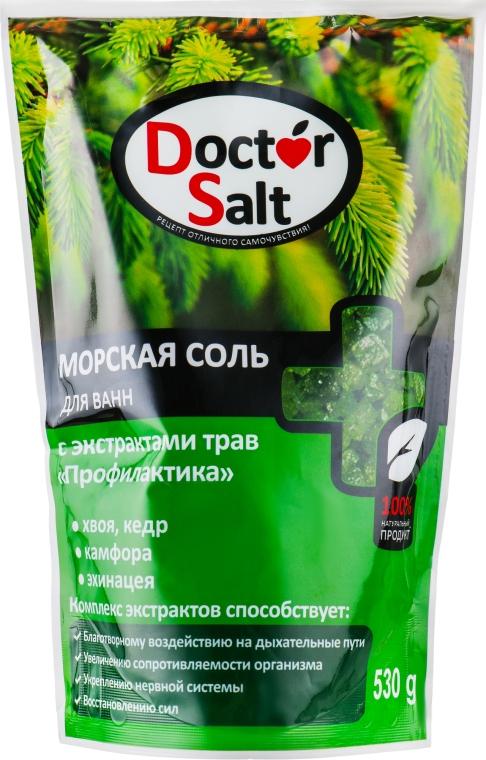 """Морская соль для ванн с экстрактами трав """"Профилактика"""" - Doctor Salt"""