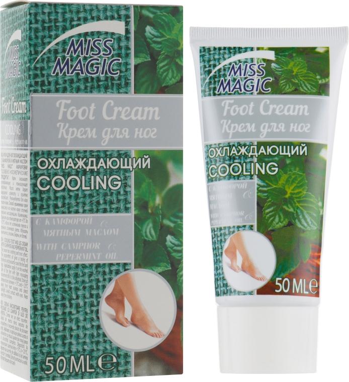 Охлаждающий крем для ног с камфорой и мятным маслом - Miss Magic Cooling Foot Cream With Camphor And Peppermint Oil