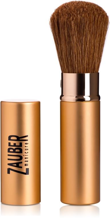 Кисть для макияжа выдвижная, средняя, желтая - Zauber