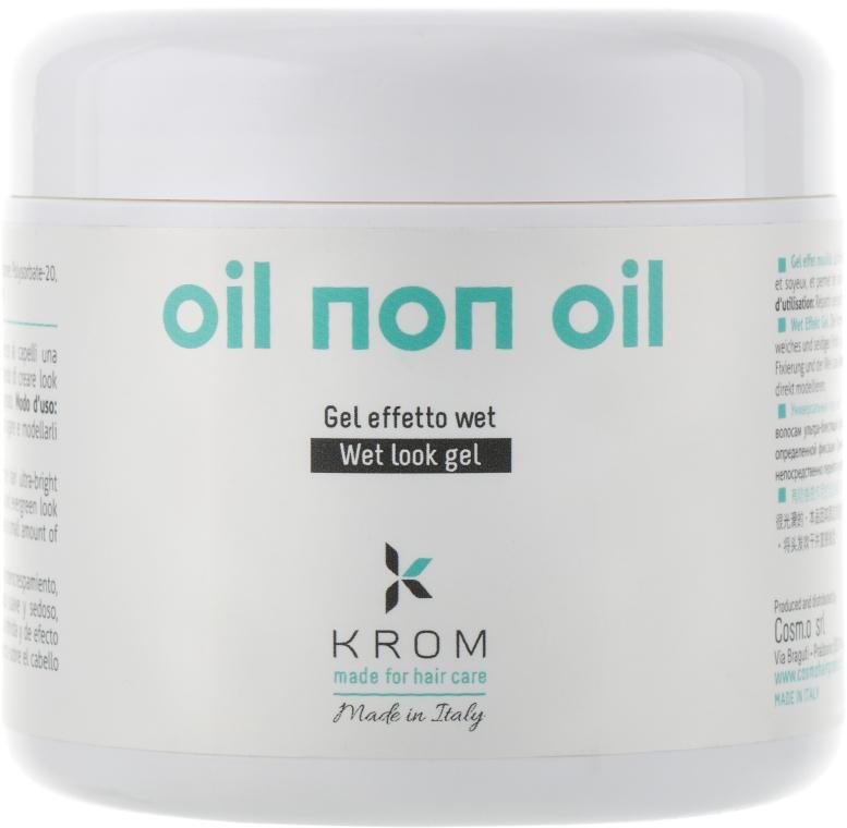 """Гель """"мокрый"""" эффект - Krom Gel Finish Oil Non Oil"""