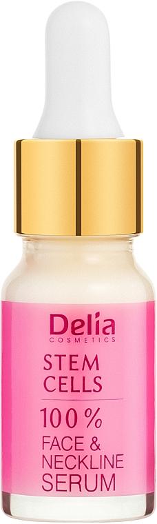 Интенсивная омолаживающая сыворотка против морщин для лица и шеи со стволовыми клетками - Delia Face Care Stem Sells Face Neckline Intensive Serum