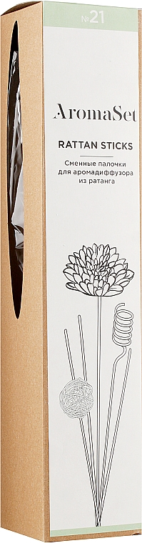 Сменные палочки для аромадиффузора №21 - AromaSet Rattan Sticks — фото N1
