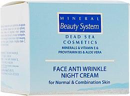 Духи, Парфюмерия, косметика Ночной крем для лица от морщин для нормальной и комбинированной кожи - Mineral Beauty System Face Anti Wrinkle Night cream