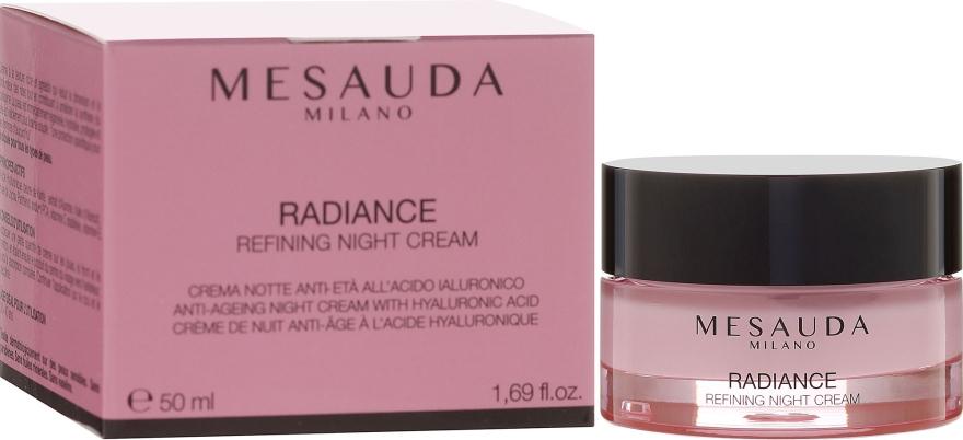 Ночной антивозрастной крем с гиалуроновой кислотой - Mesauda Milano Radiance Refining Night Cream