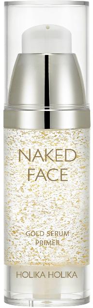 Праймер-сыворотка для сияния - Holika Holika Naked Face Gold Serum Primer