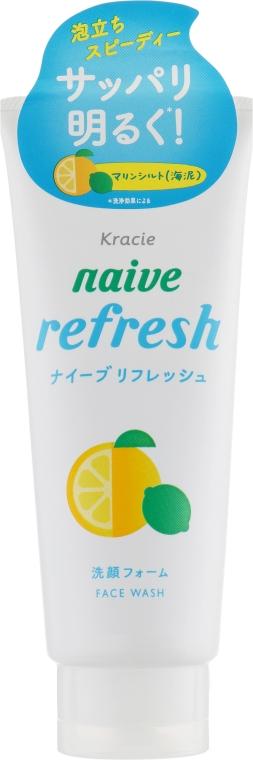 Очищающая пенка для лица с морским илом - Kracie Naive Refresh