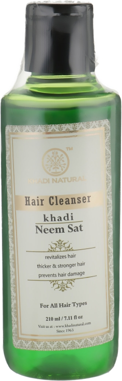 """Натуральный травяной шампунь """"Ним Сат"""" - Khadi Natural Ayurvedic Neem Sat Hair Cleanser"""