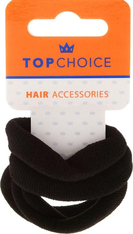 Резинки для волос, 22586, черные - Top Choice