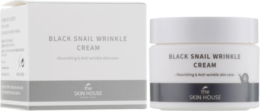 Питательный крем с коллагеном и муцином чёрной улитки - The Skin House Black Snail Wrinkle Cream
