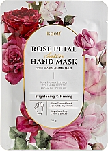 Парфумерія, косметика Зміцнювальна маска-рукавички для рук - Petitfee&Koelf Rose Petal Satin Hand Mask