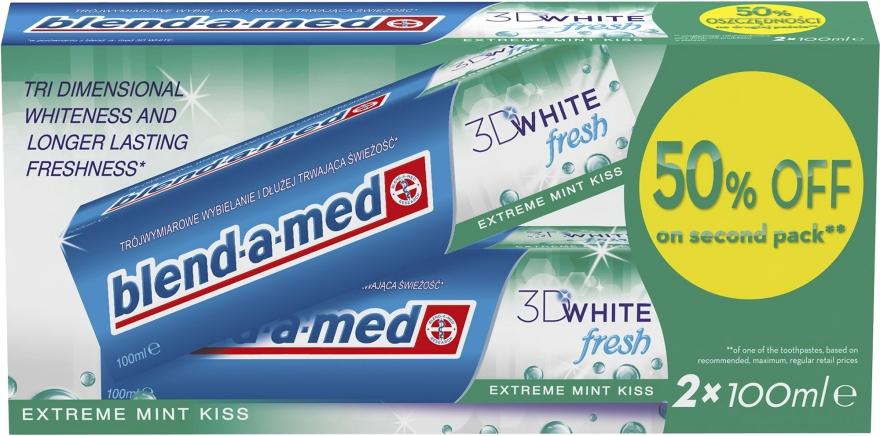 """Набор зубной пасты """"3D White"""" - Blend-a-med 3D White Fresh Extreme Mint Kiss"""