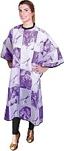 Духи, Парфюмерия, косметика Пеньюар для стрижки фиолетовый, 01842/68 - Eurostil