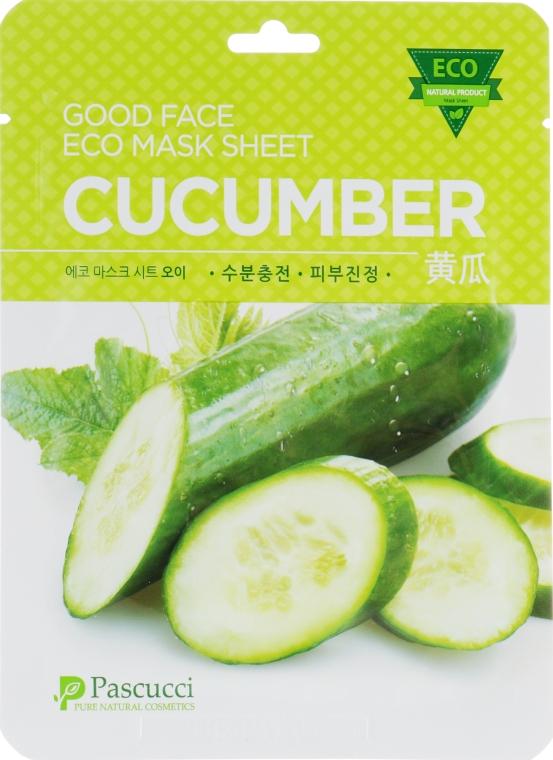 Тканевая маска для лица с экстрактом огурца - Amicell Pascucci Mask Sheet Cucumber