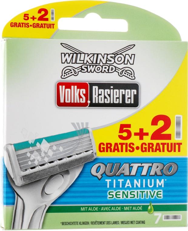 Сменные лезвия, 5+2 шт - Wilkinson Sword Quattro Titanium Sensitive