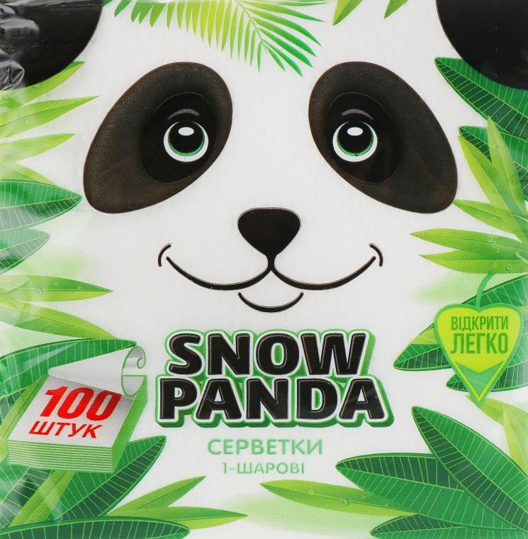 Салфетки бумажные, белые, 100 шт - Снежная Панда