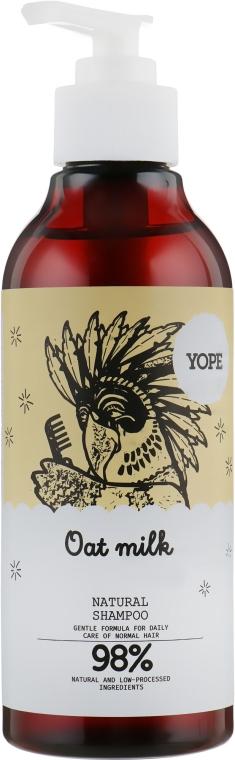 Натуральный шампунь для нормальных волос с овсяным молоком - Yope Hair Shampoo