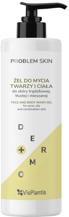 Гель для лица и тела - Vis Plantis Problem Skin Face And Body Wash Gel