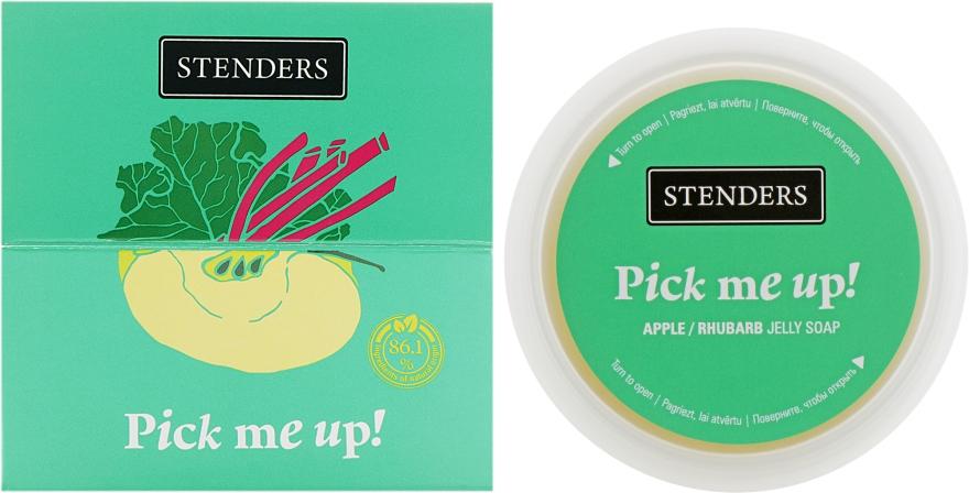 "Желейное мыло для душа яблочно-ревеневое ""Поймай, если сможешь"" - Stenders Apple/Ruhbarb Jelly Soap Pick Me Up — фото N1"