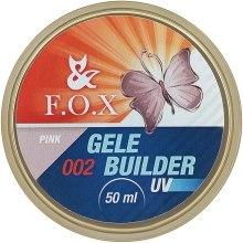 Духи, Парфюмерия, косметика Моделирующий гель-желе - F.O.X Gele Builder Gel UV Pink 002