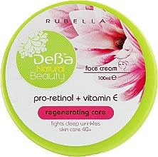 Духи, Парфюмерия, косметика Крем для лица регенерирующий - DeBa Natural Beauty Pro-Retinol+Vitamin Е 40+
