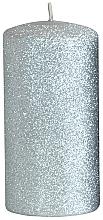 Духи, Парфюмерия, косметика Декоративная свеча, серебряная, 7x18 см - Artman Glamour