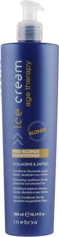 Кондиционер для осветленных и мелированных волос - Inebrya Pro-Blonde Conditioner Illuminating — фото N1
