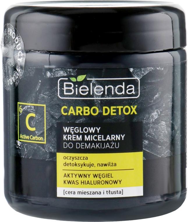 Угольный мицеллярный крем для снятия макияжа - Bielenda Carbo Detox Charcoal Makeup Removing Micellar Cream