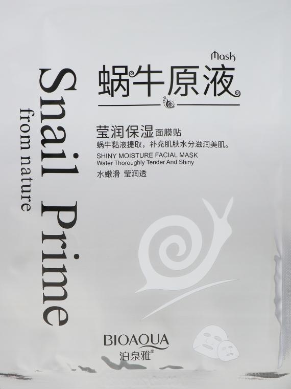 Питательная антивозрастная маска с муцином улитки - Bioaqua Snail Prime Face Mask