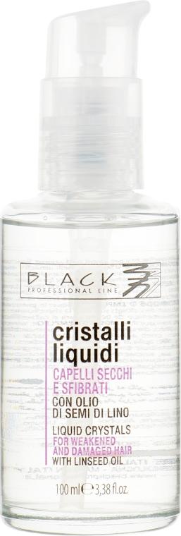Жидкие кристаллы с экстрактом семени льна для более плотных и жестких волос - Black Professional Line Liquid Crystal