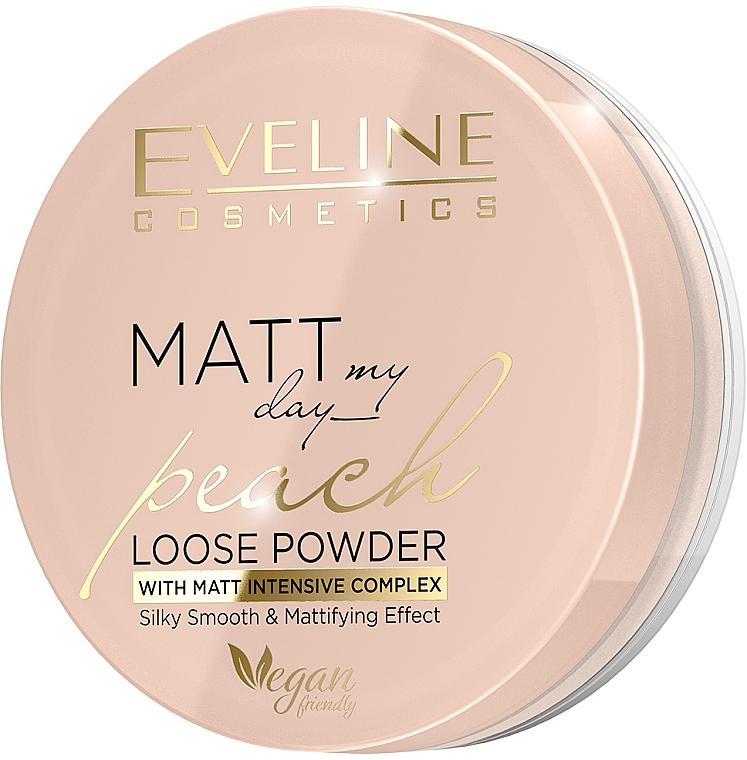 Рассыпчатая пудра - Eveline Cosmetics Matt My Day Peach Loose Powder With Matt Intensive Complex Silky Smooth & Matttifing Effect