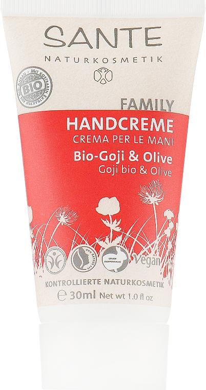 "Крем для рук ""Ягоды годжи и олива"" - Sante Family Goji & Olive Hand Cream"