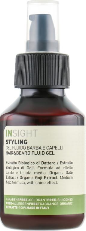 Гель-флюид для моделирования волос и бороды - Insight Man Hair & Beard Fluid Gel