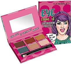 Духи, Парфюмерия, косметика Палетка теней для век - Misslyn Eye Love It Eyeshadow Palette (тестер)
