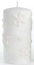 Духи, Парфюмерия, косметика Декоративная свеча, белая, 7х10см - Artman Snowflake Application