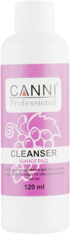 Средство для удаления липкого слоя, дезинфекции и обезжиривания ногтей - Canni Cleanser Grapes