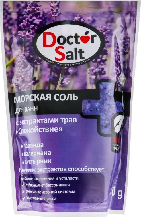 """Морская соль для ванн с экстрактами трав """"Спокойствие"""" - Doctor Salt"""